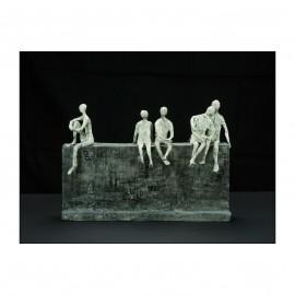 «Les amis» -fer, papier- 2010